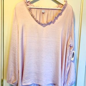 Pale pink Old Navy blouse with tags